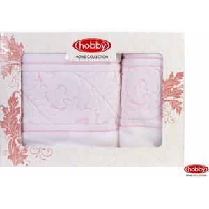 Набор из 2 полотенец Hobby home collection Sultan 50x90/70x140 белый (1501001231) цены