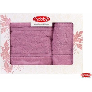 Набор из 2 полотенец Hobby home collection Sultan 50x90/70x140 розовый (1501001235)