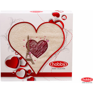 Полотенце Hobby home collection Love 50x90 см кремовый (1501000504)