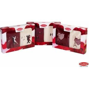 Набор из 2 полотенец Hobby home collection Love 50x90 2 штуки кремовый/бордовый (1501000506) цены