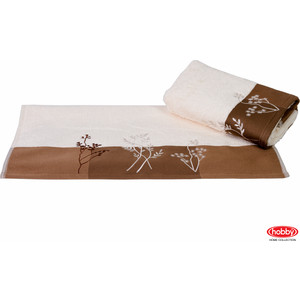 цена на Полотенце Hobby home collection Flora 50x90 см кремовый (1501000769)