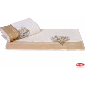 цена на Полотенце Hobby home collection Infinity 50x90 см кремовый (1501000782)