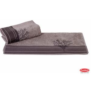 цена Полотенце Hobby home collection Infinity 50x90 см серый (1501000785) онлайн в 2017 году