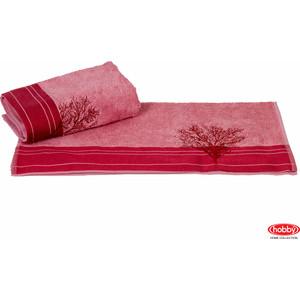 цена Полотенце Hobby home collection Infinity 70x140 см светло-розовый (1501001172) онлайн в 2017 году