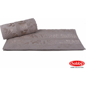 цена Полотенце Hobby home collection Versal 70x140 см коричневый (1607000102) онлайн в 2017 году