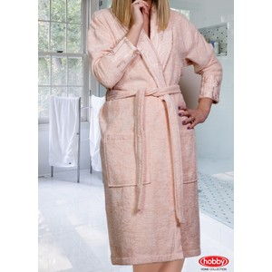 купить Халат женский Hobby home collection Eliza M персиковый (1501000845) дешево