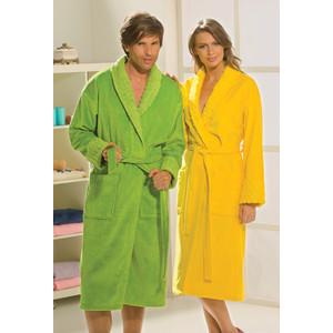 цена Халат женский Hobby home collection Angora M желтый (1501000827) онлайн в 2017 году
