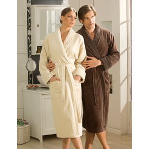 Халат мужской Hobby home collection Angora XXL коричневый цена