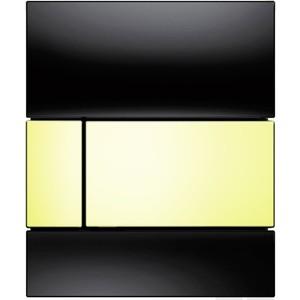где купить Панель смыва для писсуара TECE square Urinal стеклянная стекло чёрное, клавиша позолоченная (9242808) дешево