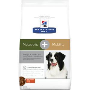 Сухой корм Hills Prescription Diet Metabolic & Mobility with Chicken с курицей диета при коррекции веса для собак 12 кг (10039)