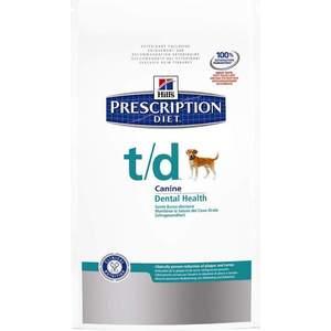 Сухой корм Hill's Prescription Diet t/d Canine Dental Health диета при лечении заболеваний полости рта для собак 3кг (4023) сухой корм hill s prescription diet h d canine cardiac health диета при лечении ранних стадий сердечных заболеваний для собак 5кг 4357