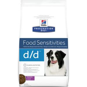 Сухой корм Hill's Prescription Diet d/d Food Sensitivities Duck & Rice с уткой и рисом диета при лечении пищевых аллергий для собак 12кг (9179) сухой корм hill s prescription diet d d food sensitivities duck