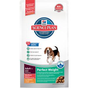 Сухой корм Hill's Science Plan Perfect Weight Adult Medium для собак средних пород склонных к полноте 10кг (3667)