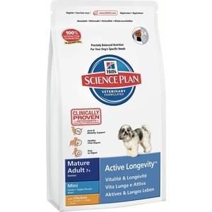 Сухой корм Hills Science Plan Active Longevity Mini Mature Adult 7+ with Chicken с курицей для пожилых собак мелких пород 3кг (6095)
