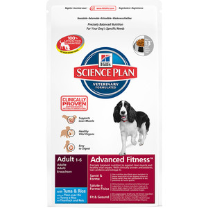 Сухой корм Hill's Science Plan Advanced Fitness Adult Medium with Tuna & Rice с тунцом и рисом для собак средних пород 3кг (7989)