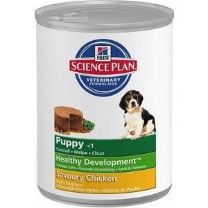 Консервы Hill's Science Plan Puppy Healthy Development Puppy Medium with Savoury Chicken с курицей для щенков средних пород 370г (8036) фото