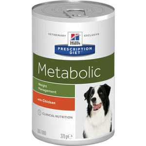 Консервы Hills Prescription Diet Metabolic Weight Managment with Chicken с курицей диета при коррекции веса для собак 370г (2101)