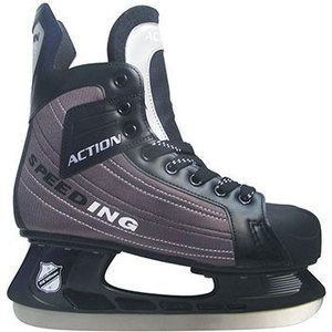 Коньки хоккейные Action PW-216DN р. 39 коньки хоккейные action play pw 216y черный серый р 39