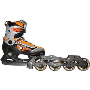 Коньки со сменным шасси Action PW-223B-2 р. 40-43 (серый/оранжевый) коньки хоккейные action play pw 216y черный серый р 39