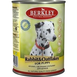 Консервы Berkley For Puppy Rabbit & Oatflakes с кроликом и овсяными хлопьями для щенков 400г (75070)