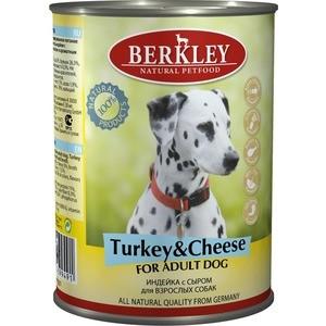 Консервы Berkley For Adult Dog Turkey & Cheese с индейкой и сыром для взрослых собак 400гр (75071)