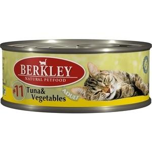Консервы Berkley Adult Tuna & Vegetables № 11 с тунцом и овощами для взрослых кошек 100г (75110)