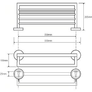 Полка для полотенец Bemeta Omega (104219072)