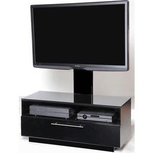 Тумба под телевизор Allegri Бриз 1 800 с плазмастендом черный глянец каркас стекло черное