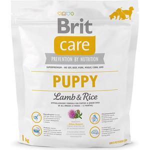 Сухой корм Brit Care Puppy All Breed Lamb & Rice гипоаллергенный с ягненком и рисом для щенков молодых собак всех пород 1кг (132702)