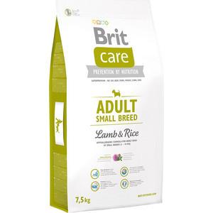 Сухой корм Brit Care Adult Small Breed Lamb & Rice гипоаллергенный с ягненком и рисом для взрослых собак мелких пород 7,5кг (132706) фото