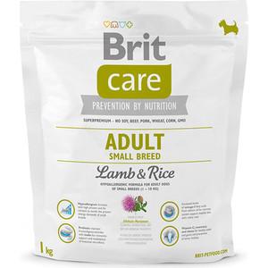 Сухой корм Brit Care Adult Small Breed Lamb & Rice гипоаллергенный с ягненком и рисом для взрослых собак мелких пород 1кг (132708) фото