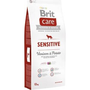 Сухой корм Brit Care Sensitive Venison & Potato с олениной и картофелем для собак чувствительным пищеварением 12кг (132745)
