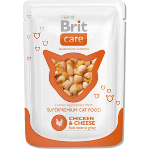 Паучи Brit Care Cat Chicken & Cheese c курицей и сыром для кошек 80г (100118)