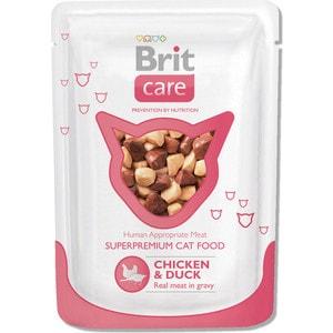 Паучи Brit Care Cat Chicken & Duck с курицей и уткой для кошек 80г (100121) фото