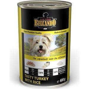 Консервы Belcando Tasty Turkey & Rice вкусная индейка с рисом для собак 400г (512535)