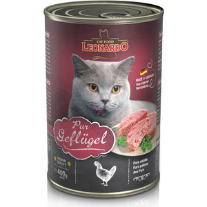 Консервы Leonardo Quality Selection Pure Poultry c птицей для кошек 400г (756229)
