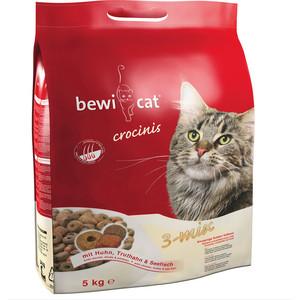 Сухой корм Bewi Cat Crocinis 3 mix Chicken, Turkey & Sea Fish с курицей, индейкой и морской рыбой для взрослых привередливых кошек 5кг (751025) фото