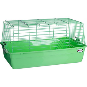 Клетка KREDO R1 из окрашенной проволоки с кормушкой для сена в подарочной упаковке кроликов