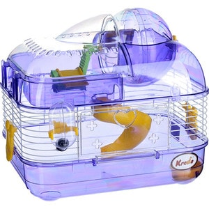 Клетка KREDO М02 из окрашенной проволоки со счетчиком в подарочной упаковке для хомяков фото