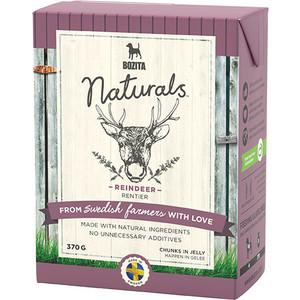 Консервы BOZITA Naturals Reindeer кусочки в желе с мясом оленя для собак 370г (4263) фото