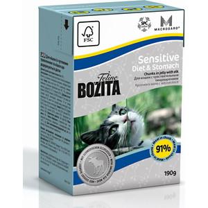 Консервы BOZITA Sensitive Diet & Stomah Chunks in Jelly with Elk кусочки в желе с лосем для кошек с чувствительным пищеварением 190г (2164) мех лося wapsi elk body hair mane