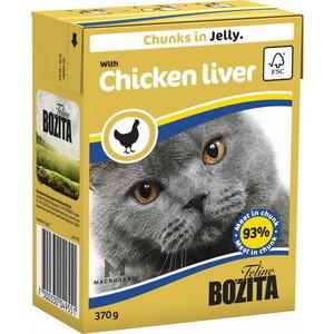 Консервы BOZITA Chunks in Jelly with Chicken Liver кусочки в желе с куриной печенью для кошек 370г (4955)