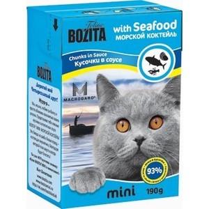 Консервы BOZITA MINI Chunks in Sauce with Seafood кусочки в соусе морской коктейль для кошек 190г (2103) фото