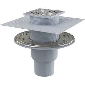 Душевой трап AlcaPlast 105х105/50/75 подводка прямая, нержавеющая сталь, гидрозатвор комбинированный SMART (APV2324)