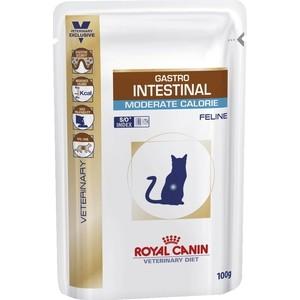 Паучи Royal Canin Gastro Intestinal Moderate Calorie Feline диета при нарушении пищеварения/панкреатит для кошек 100г (767001)