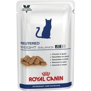 Паучи Royal Canin ВКН Neutered Weight Balance диета для стерилизованных кошек склонных к полноте 100г (772001)