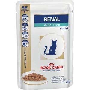 Паучи Royal Canin Renal Feline with Tuna диета с тунцом при хронической почечной недостаточности для кошек 85г (795001)