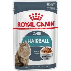 Паучи Royal Canin Hairball Care кусочки в соусе выведение шерсти из желудка для кошек 85г (799001)