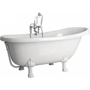 Ванна из литого мрамора Фэма Стиль Салерно 170х83 см лапы белые ванна из литого мрамора фэма стиль салерно 170х83 см лапы хром