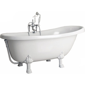 Ванна из литого мрамора Фэма Стиль Салерно 170х83 см лапы сакарская медь ванна из литого мрамора фэма стиль салерно 170х83 см лапы хром